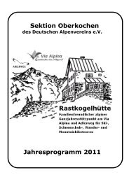 September 2011 - Deutscher Alpenverein e.V. Sektion Oberkochen
