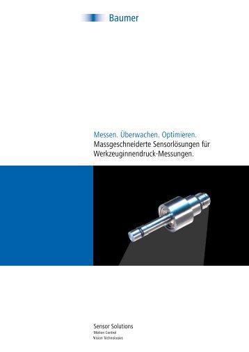 Werkzeuginnendruck-Sensoren - Baumer