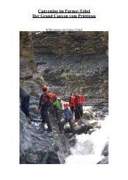 Canyoning im Furner-Tobel Der Grand Canyon ... - SBM-Events AG