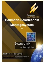 Baumann-Solartechnik Montagesystem