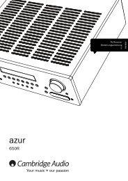 Cambridge Audio Azur 650R - taurus high-end gmbh