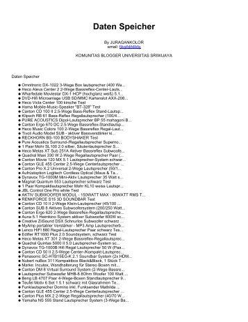 Daten Speicher - Komunitas Blogger Unsri - Universitas Sriwijaya