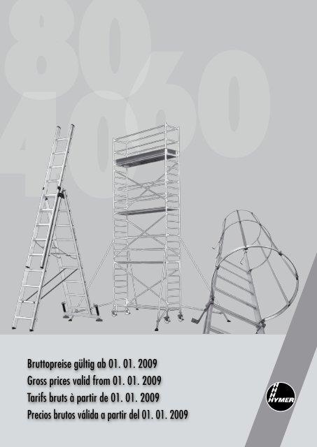 412316 2/x 8//échelons Hymer escalier /échelle double