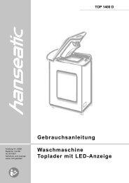 Waschmaschine bedienen - Baur