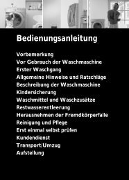 Bedienungsanleitung - Bauknecht