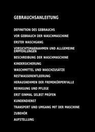 ERSTER WASCHGANG VORSICHTSMAßNAHMEN UND ... - Schwab