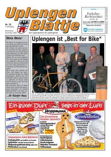 """Uplengen ist """"Best for Bike"""" - Uplengen Blattje"""