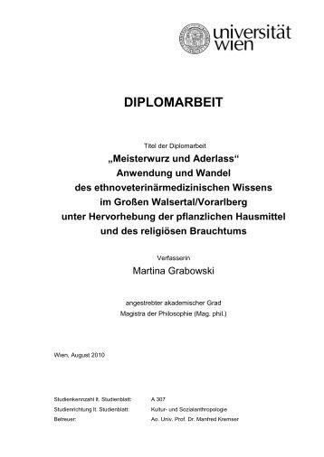 Martina Grabowski - Institut für ökologischen Landbau - Boku