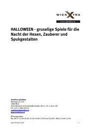 HALLOWEEN - gruselige Spiele für die Nacht der Hexen, Zauberer ...