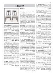 1 bis 189 Möbel - Schuler Auktionen