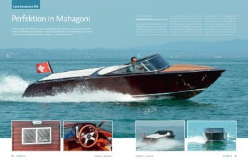Perfektion in Mahagoni - boot24.ch