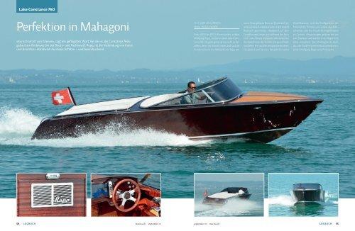 Perfektion in Mahagoni - boot24.ch