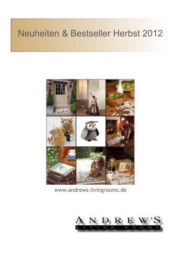 Neuheiten & Bestseller Herbst 2012 - Andrew´s Living Rooms