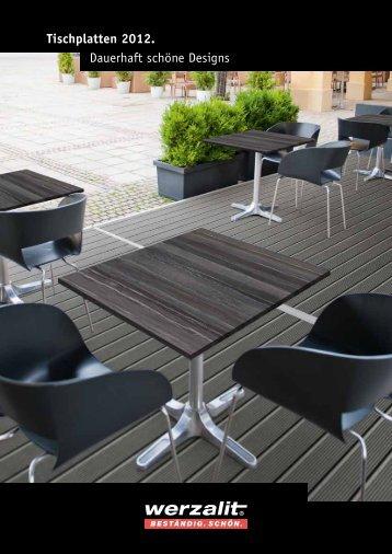 Dauerhaft schöne Designs Tischplatten 2012.