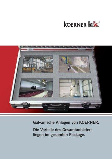 Galvanische Anlagen. Kundenspezifische Lösungen auf ... - Koerner