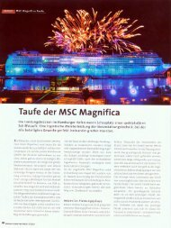 Taufe der MSC Magnifica - Saturn Production