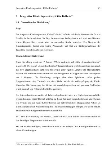 "6 Integrative Kindertagesstätte ""Käthe Kollwitz"" - Kitas im Dialog"