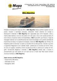 MSC Magnífica - Mapa Turismo
