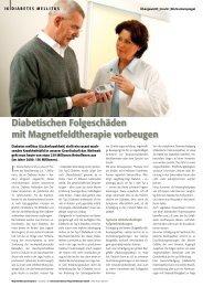 Diabetischen Folge schäden mit Magnetfeldtherapie ... - VITA-LIFE