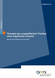 Therapie des unspezifischen Tinnitus ohne organische ... - DIMDI