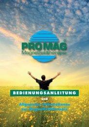 Die Magnetfeldtherapie - Promag.biz
