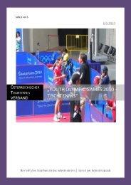 Youth Olympic Games –Singapur, 14. - Österreichischer Tischtennis ...