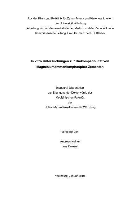 Lebenslauf - OPUS - Universität Würzburg