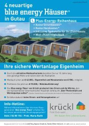 blue energy Haus - Krückl Baugesellschaft mbH & Co KG
