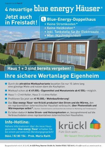 blue energy Häuser - Krückl Baugesellschaft mbH & Co KG