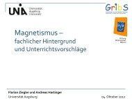 Kleinst-magneten - Phil.-So. - Universität Augsburg