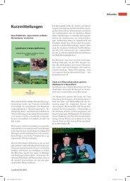 Kurzmitteilungen - Infodienst Landwirtschaft - Baden-Württemberg