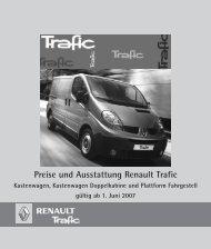Preise Trafic Kastenwagen - Renault Kriegner