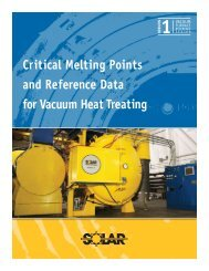 Critical Melting Points and Reference Data for Vacuum Heat Treating