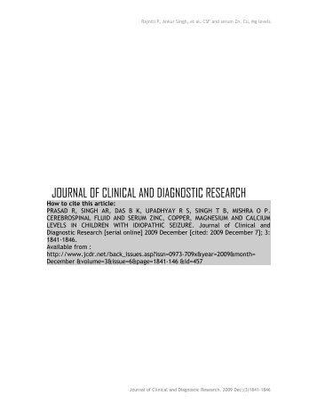 ORIGINAL ARTICLE Cerebrospinal fluid and serum zinc, copper ...