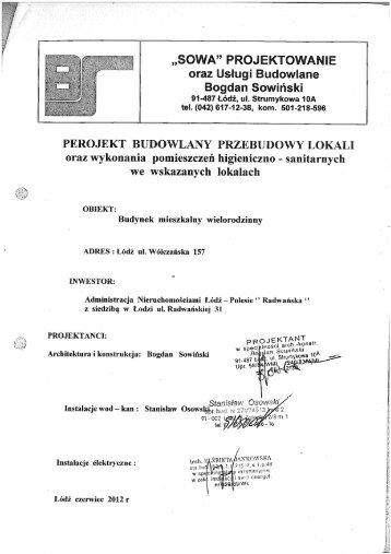 """""""SOWA"""" PROJEKTOWANIE oraz Usługi Budowlane Bogdan Sowiński"""
