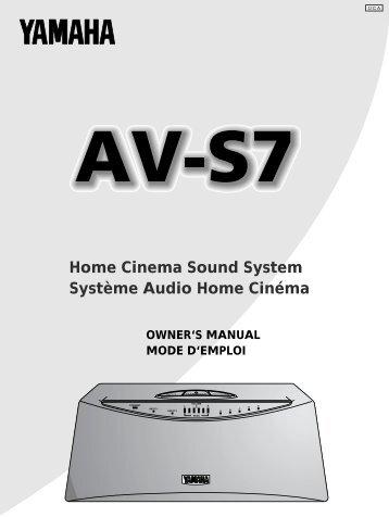 Home Cinema Sound System Système Audio Home ... - Yamaha
