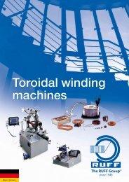 Toroidal winding machines - Stator Service Polska