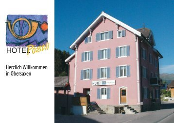 Herzlich Willkommen in Obersaxen - beim Hotel & Restaurant Pöstli