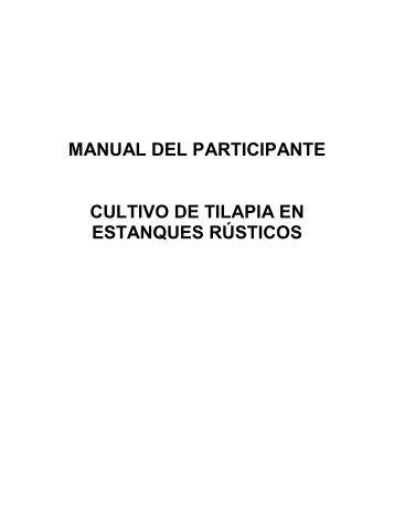 manual del participante cultivo de tilapia en estanques rústicos