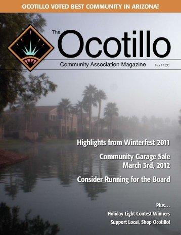 Issue 1 - Ocotillo Community Association