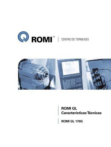 Características Técnicas ROMI GL 170G