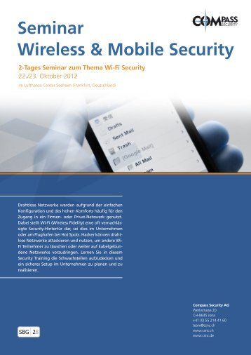 Seminar Wireless & Mobile Security - Compass Security AG