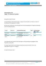 E-Mail Einstellungen überprüfen ... - Kabel TV Amstetten