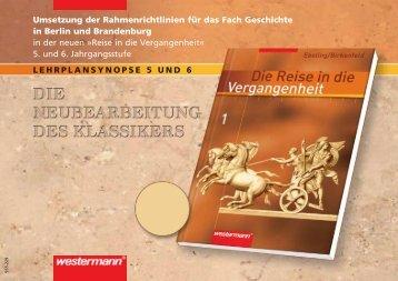 Umsetzung der Rahmenrichtlinien für das Fach Geschichte in Berlin ...