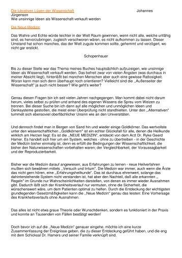 Johannes Jürgenson - über die Neue Medizin am ... - Key of Life