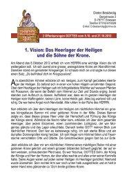 2 Visionen vom Heerlager der Heiligen - Jesus Christus ...