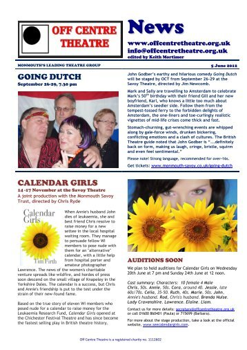 GOING DUTCH CALENDAR GIRLS - Off Centre Theatre