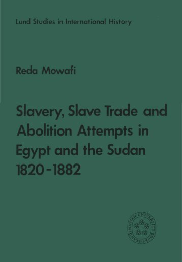 Slavery, Slave Trade and Abolition Attempts in Egypt and the Sudan ...