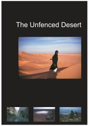 The Unfenced Desert Towards a strategy for eco ... - Nwrc.gov.sa