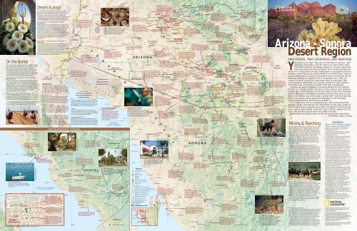 Arizona - Sonora Desert Region Map Guide - California Ocean ...